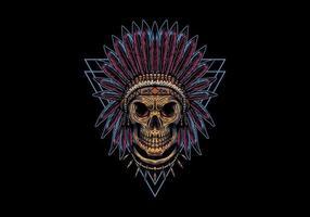 indian triangelmärke för skalle