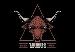 Taurus stjärntecken vektor