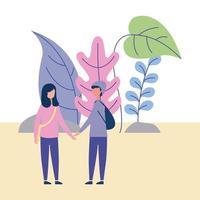 Par i utomhusinnehavhänder vektor