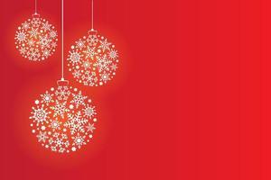 Weihnachtskugeln aus Schneeflocken