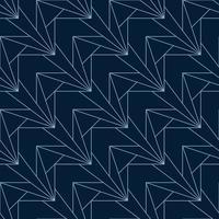 geometrisches Muster des blauen eckigen nahtlosen Art Deco vektor