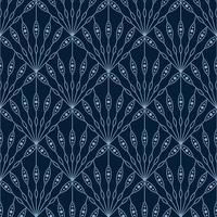 Blumenfan nahtlose Art-Deco-geometrisches Muster vektor