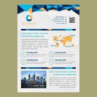 Low Poly Blue Business Broschüre