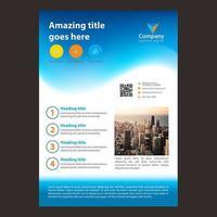 Blauer Steigungs-Wellen-Geschäfts-Broschüren-Entwurf