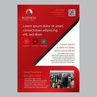 Röd mall för en sida-broschyr