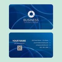 Moderner blauer Blasen-Visitenkarte-Entwurf vektor