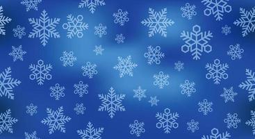 Nahtlose Schneehintergrundillustration. Horizontal und vertikal wiederholbar. vektor