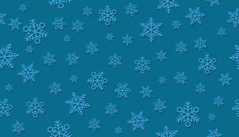 Sömlös snöbakgrund 3D. Horisontellt och vertikalt repeterbart. vektor