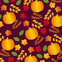 glad tacksägelse mönster vektor