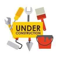 under konstruktion skyltar