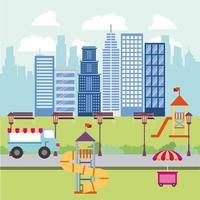 Volkspark und Stadt