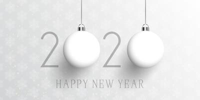 Gott nytt år bauble banner