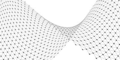 Flödande rutnät i svartvitt vektor