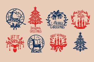 Weihnachtsaufkleber-Set