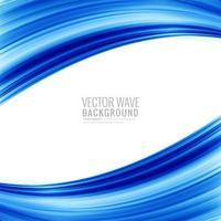 Modern stilfull affärsblå våg på vit bakgrund vektor