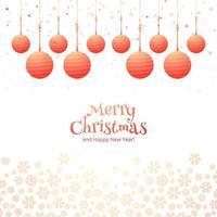 Weinlesekarte mit Weihnachtsballhintergrund