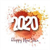 Gott nytt år 2020 hälsningskort för vinterferie vektor