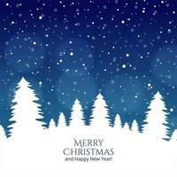 Festival-Kartenvektor des frohen Weihnachtsbaums und des guten Rutsch ins Neue Jahr