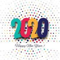 Winterurlaub-Grußkarte des guten Rutsch ins Neue Jahr 2020