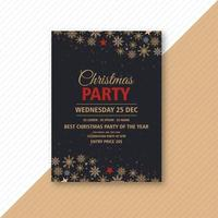 Weihnachtsfeier Event Flyer Design vektor