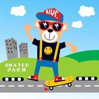 skateboardbjörn i staden