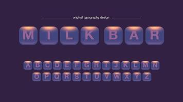Abstraktes gerundetes quadratisches Knopf-Typografie-Design