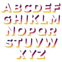 Färgglada Shadow Space Typography vektor