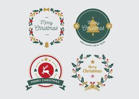 jul emblem samling vektor