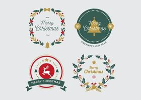 Weihnachtsabzeichen Sammlung vektor
