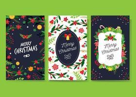 Christmass gratulationskortsamling vektor