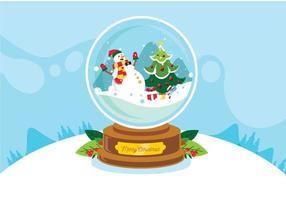 Weihnachtscrsytal Kugel des glücklichen Schneemannes vektor