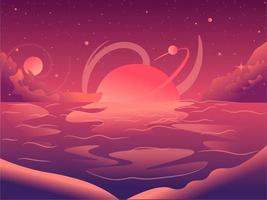Magischer Ort mit Sternen und strahlendem Nachthimmel vektor