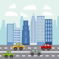 folk parkerar och stad