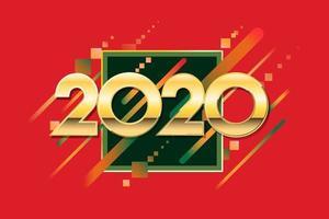 Kreatives Design des neuen Jahres 2020