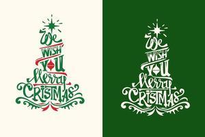 Vi önskar dig en God Jul vektor