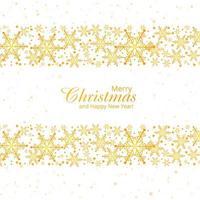 Winterhintergrund mit Kartendesign der frohen Weihnachten der Schneeflocken