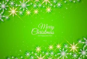 Glänzender Schneeflockenhintergrund der abstrakten Weihnachtskarte