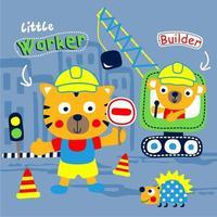 Builder Animals in the City vektor