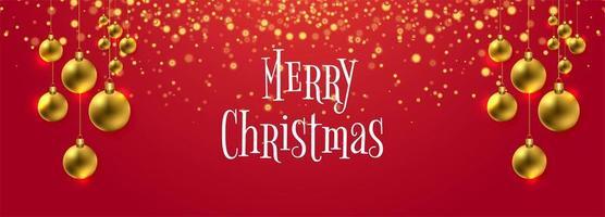 Bunter Fahnenhintergrund des schönen dekorativen Weihnachtsballs vektor