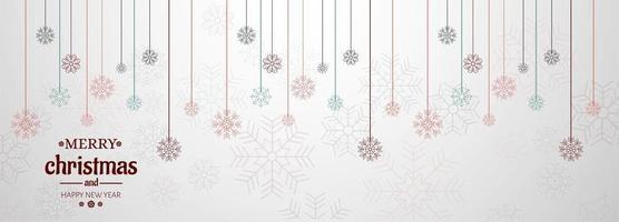 Horizontale Fahne mit Weihnachtskarten-Vektorhintergrund