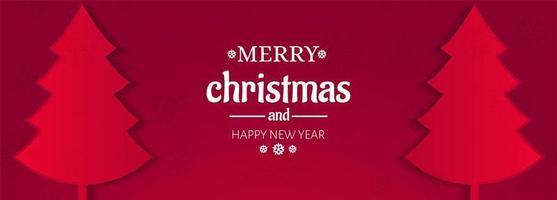 Grußkarte der frohen Weihnachten für Fahnendesignvektor