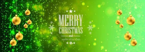 jul banner för jul boll för glänsande glitter bakgrund vektor