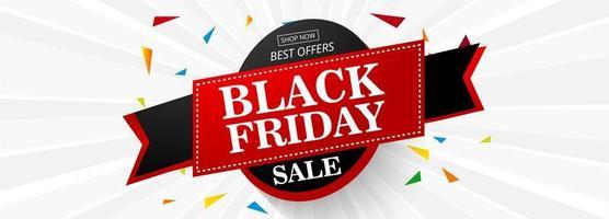 Schwarzer Freitag-Verkaufsfahnenplan-Design-Vektorillustration