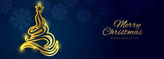 Schöner Weihnachtsfahnen-Hintergrundvektor