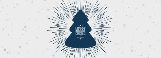 elegant julgran kort banner vektor
