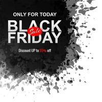 Abstrakter schwarzer Freitag-Tintenspritzenhintergrund