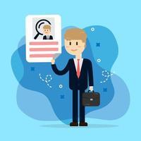 Personalresursintervju. rekrytering vektor