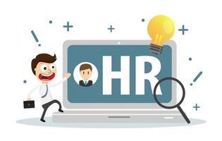 Mänskliga resurser, rekrytering, HR-ledning, karriär. vektor