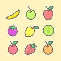 Pack med frukt vektor