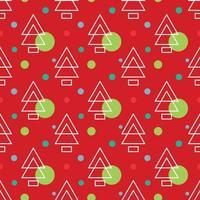 Einfache Kiefer christmass Muster-Vektorillustrationen vektor